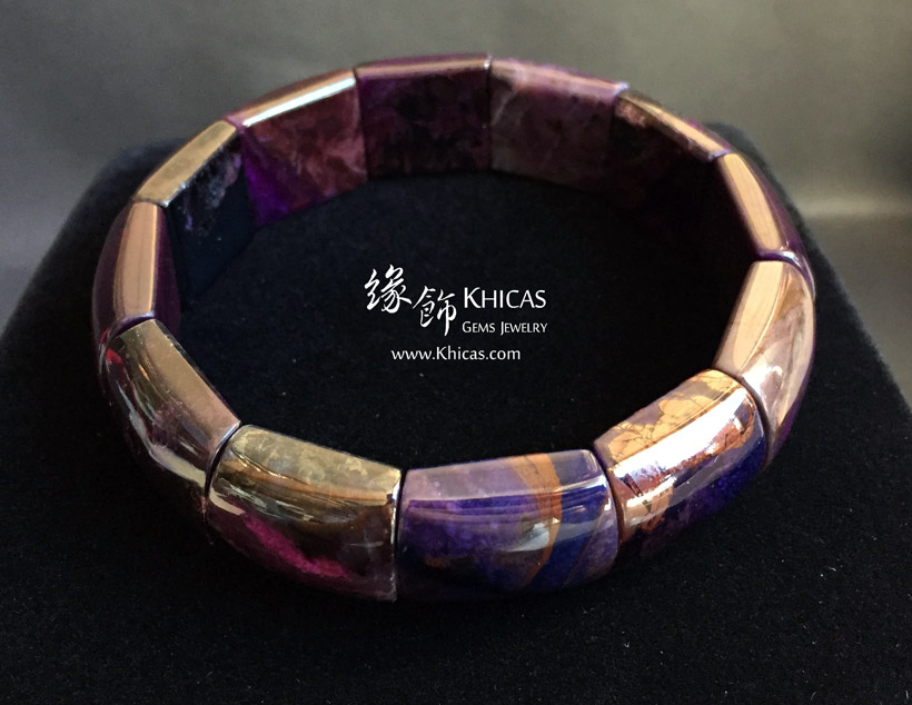 南非 3A+ 舒俱徠手排 18.4x15.4x7.1mm South Africa Sugilite Bracelet KH144204 @ Khicas Gems Jewelry 緣飾天然水晶