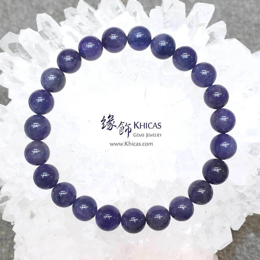 坦桑尼亞 3A+ 坦桑石(丹泉石)手串 8.3mm+/- Tanzanite KH144211 @ Khicas Gems 緣飾