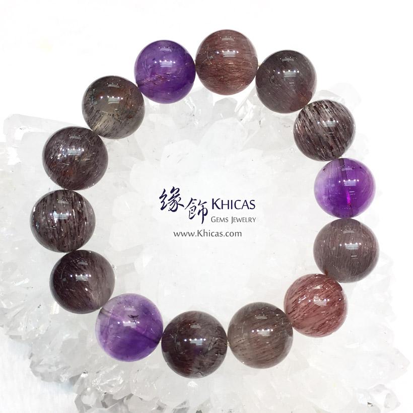 3A+ 巴西 Super Seven / Super7 / 超級七 / 三輪骨幹手串 16.5mm KH144222 @ Khicas Gems Jewelry 緣飾天然水晶