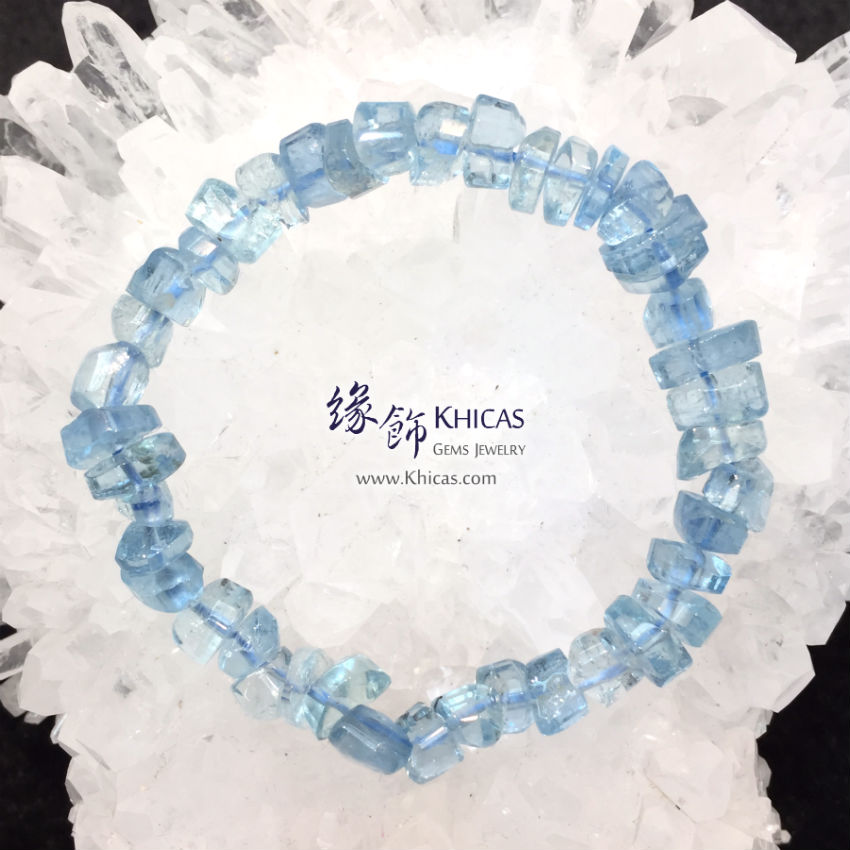 巴西 5A+ 海藍寶不定形手串 Aquamarine Bracelet KH144223 Khicas Gems 緣飾