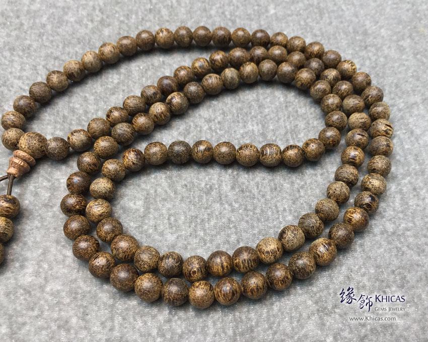 印尼虎皮紋沉香 108 佛珠 / 念珠手串 7mm Agilawood KH144230 Khicas Gems 緣飾