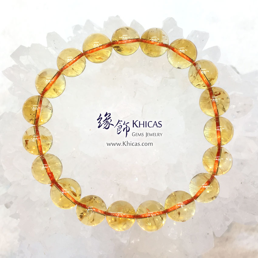 巴西 5A+ 黃晶手串 10.5mm Citrine KH144241 @ Khicas Gems 緣飾