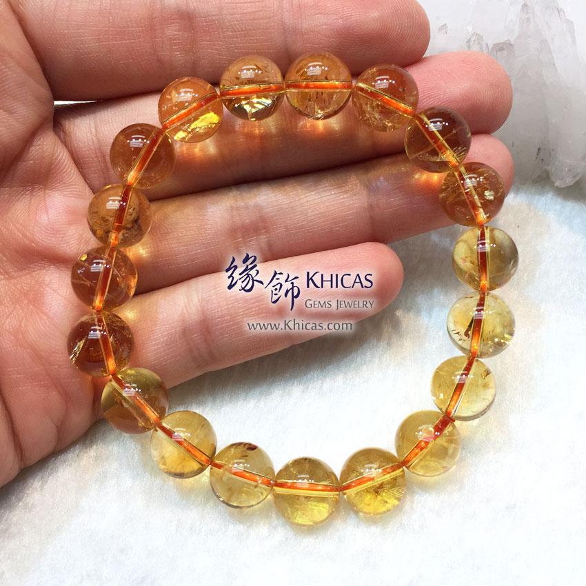 巴西 5A+ 黃水晶手串 10.5mm Citrine KH144242 @ Khicas Gems 緣飾