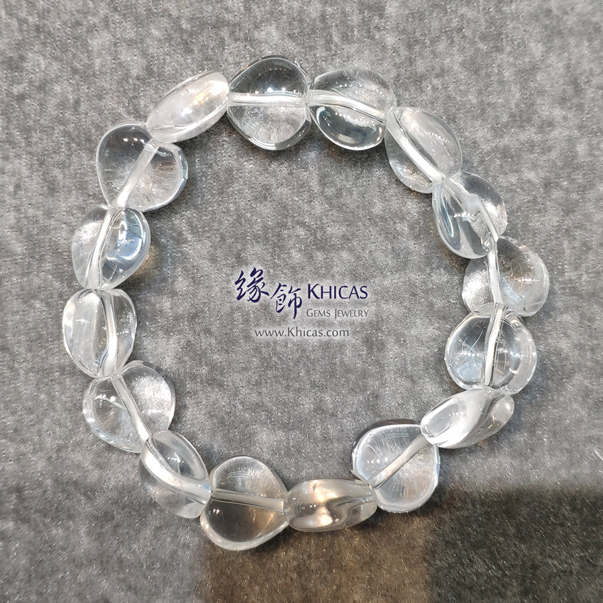 巴西白水晶心形手串 Heart Shape White Quartz Bracelet KH144469 @ Khicas Gems Jewelry 緣飾天然水晶