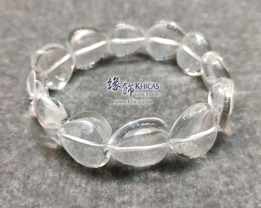 巴西白水晶心形手串 Heart Shape White Quartz Bracelet KH144471 @ Khicas Gems Jewelry 緣飾天然水晶