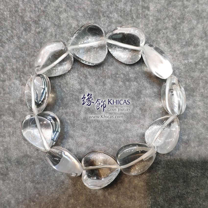 巴西白水晶心形手串 Heart Shape White Quartz Bracelet KH144472 @ Khicas Gems Jewelry 緣飾天然水晶