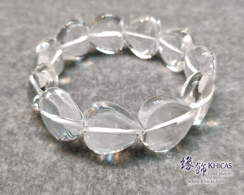 巴西白水晶心形手串 Heart Shape White Quartz Bracelet KH144472 @ Khicas Gems Jewelry 緣飾天然水晶