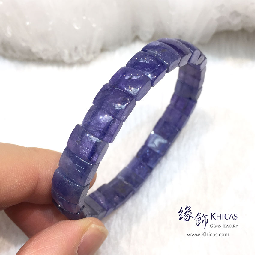 坦桑尼亞 3A+ 坦桑石(丹泉石)手排 8.7mm+/- Tanzanite KH144676 @ Khicas Gems 緣飾