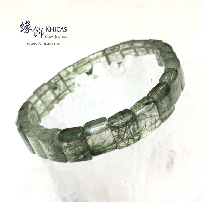 巴西 3A+ 綠髮晶手排 11mm+/- Green Rutilated Quartz KH144677-4 Khicas Gems 緣飾