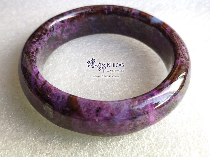 南非 4A+ 舒俱徠手鐲(內徑 56.3mm / 1.5) South Africa Sugilite Bangle KH144847 @ Khicas Gems Jewelry 緣飾天然水晶