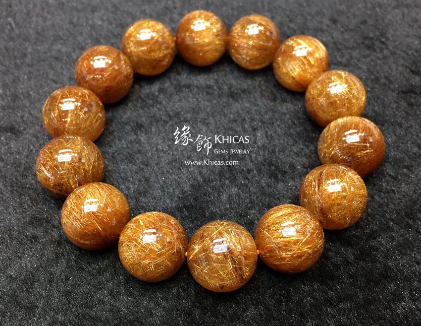 特級巴西 5A+ 銅鈦晶手串 16.7mm+/- Copper Rutilated Quartz KH144858 @ Khicas Gems 緣飾