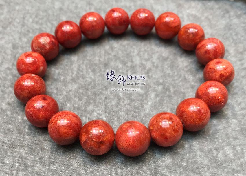 海南紅珊瑚手串 11mm Red Coral Bracelet KH144864Q @ Khicas Gems 緣飾