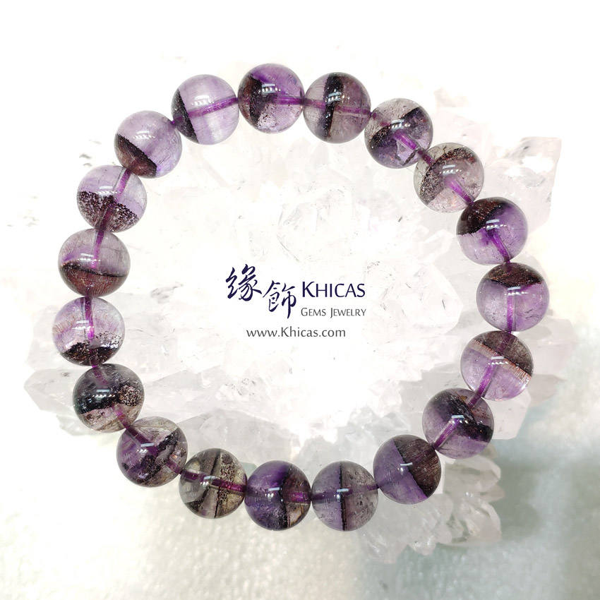 巴西 4A+ 紫底一線黑超級七 / 黑超七 / 三輪骨幹 / Super7 手串 10mm KH144910 @ Khicas Gems Jewelry 緣飾天然水晶