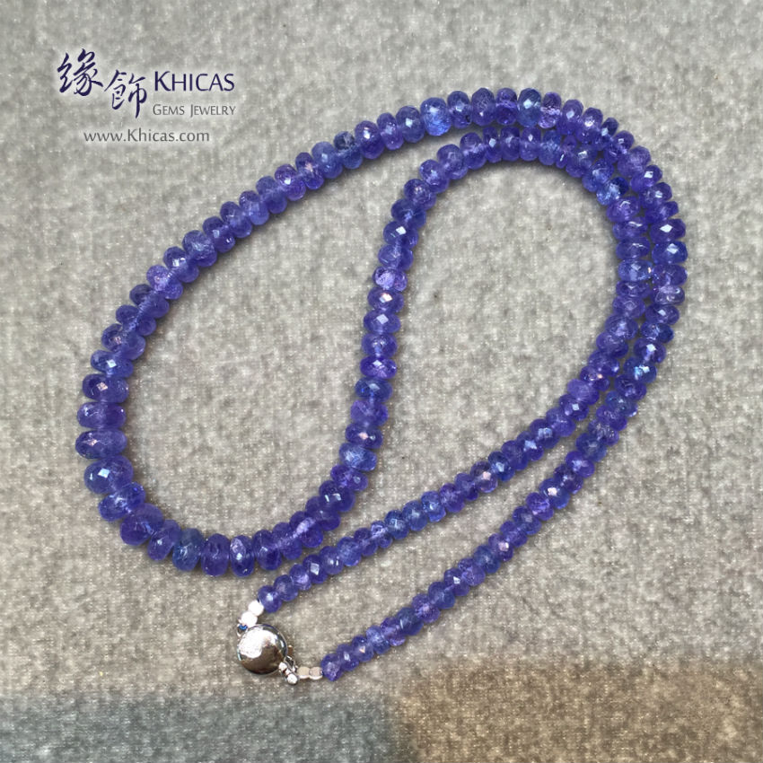 坦桑尼亞 5A+ 坦桑石鑽石切割面項鍊 Tanzanite Necklace KH144962 @ Khicas Gems 緣飾