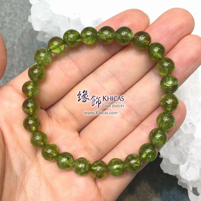 巴西 4A+ 橄欖石手串 8mm+/- Peridot Bracelet KH144964 @ Khicas Gems 緣飾