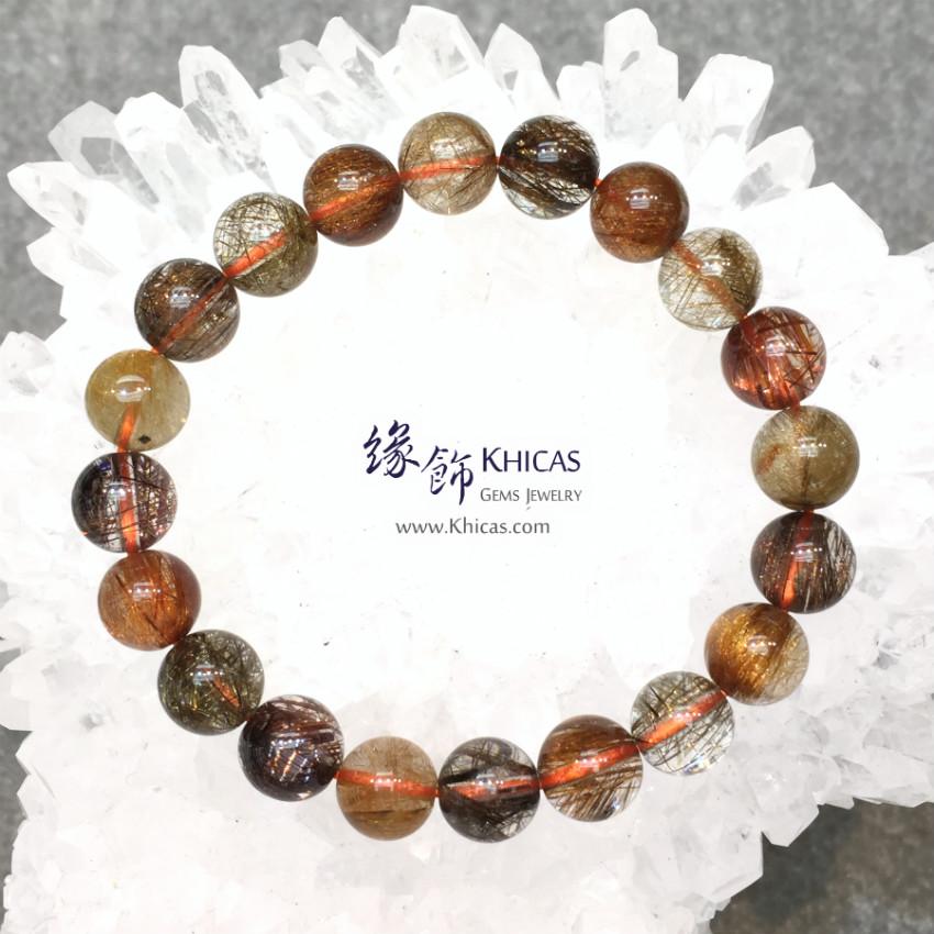 巴西 5A+ 多彩髮晶手串 9.8mm Multi-colour Rutilated Quartz KH144975 @ Khicas Gems 緣飾天然水晶