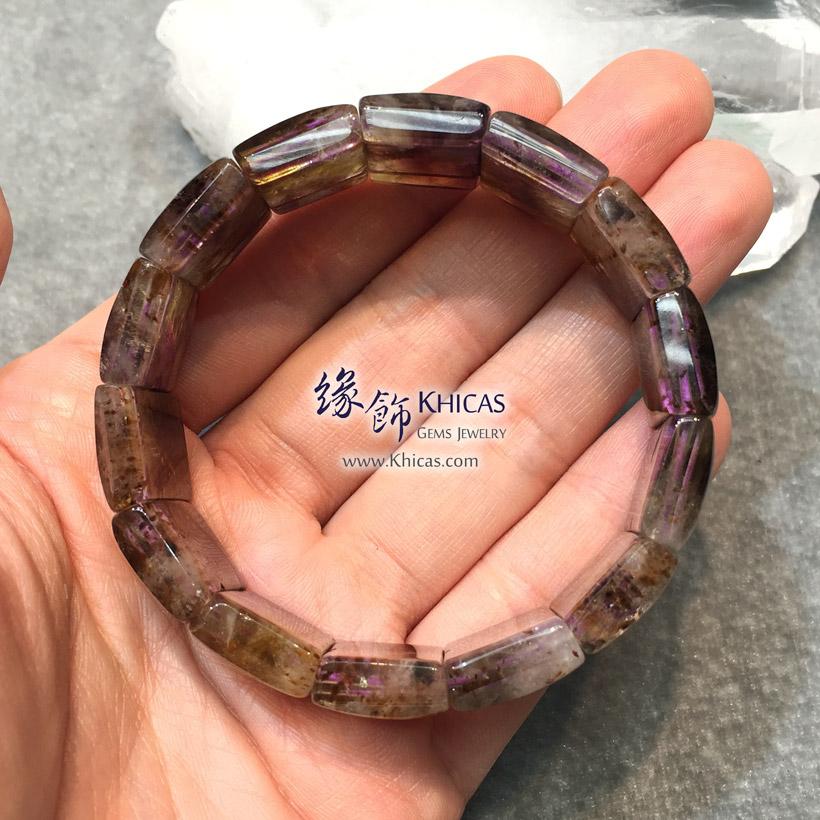 巴西 4A+ 紫鈦晶手排 Amethyst Rutilated Quartz Bracelet KH145321 @ Khicas Gems Jewelry 緣飾天然水晶