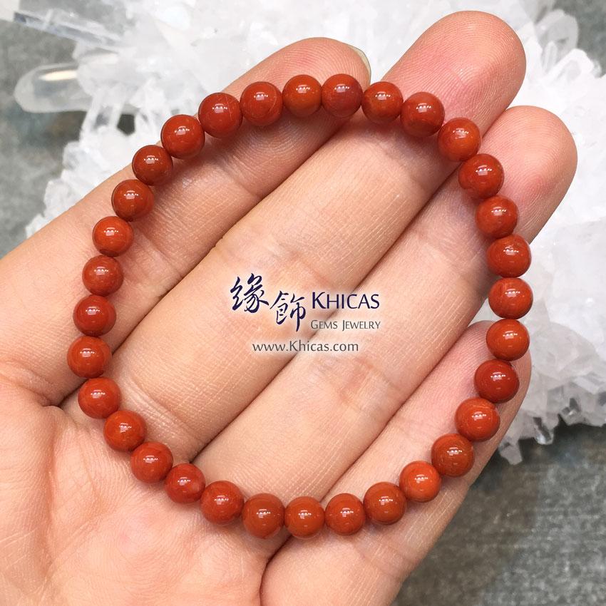 5A+ 南紅瑪瑙手串 5.5mm Red Agate KH145381 @ Khicas Gems 緣飾天然水晶