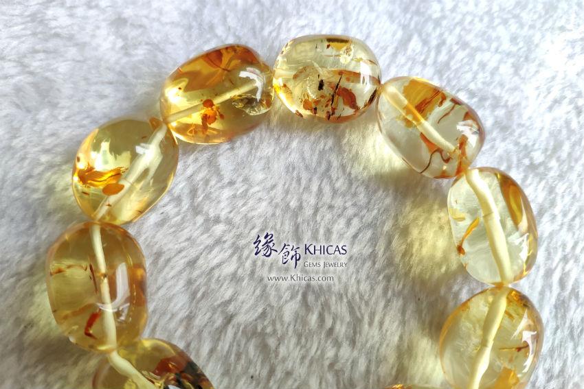 波羅的海金花珀不定形手串 Gold Amber Bracelet KH145399 by Khicas Gems 緣飾
