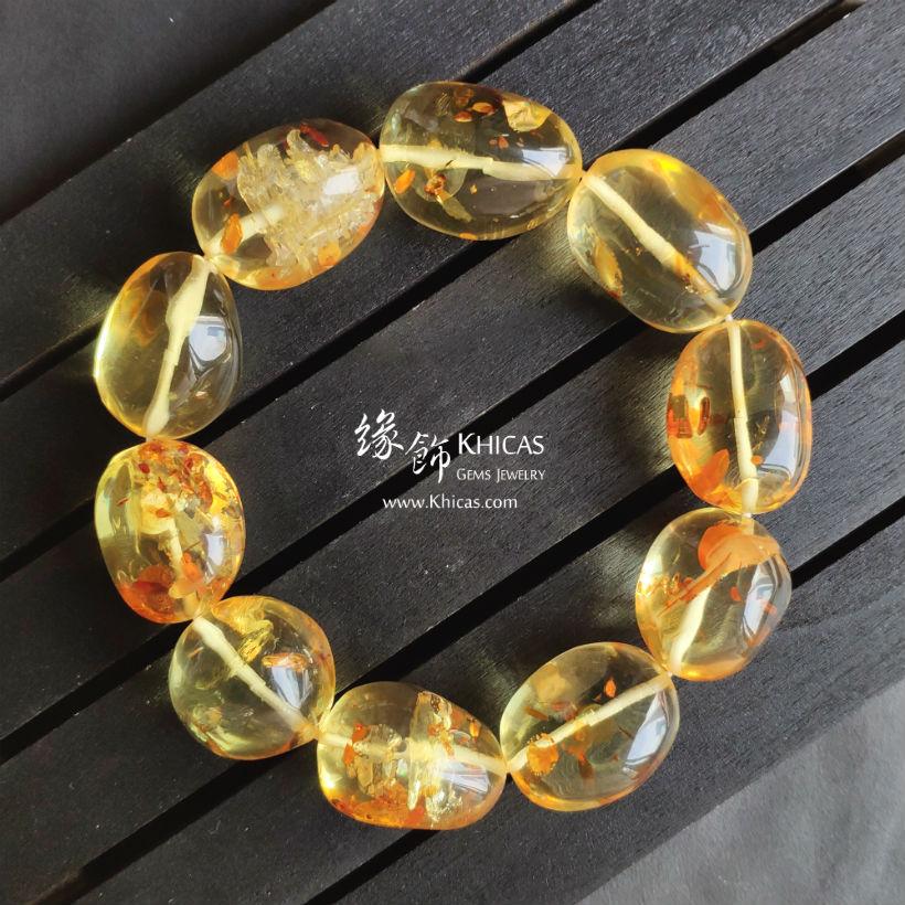 波羅的海金花珀不定形手串 Gold Amber Bracelet KH145400 by Khicas Gems Jewelry 緣飾天然水晶