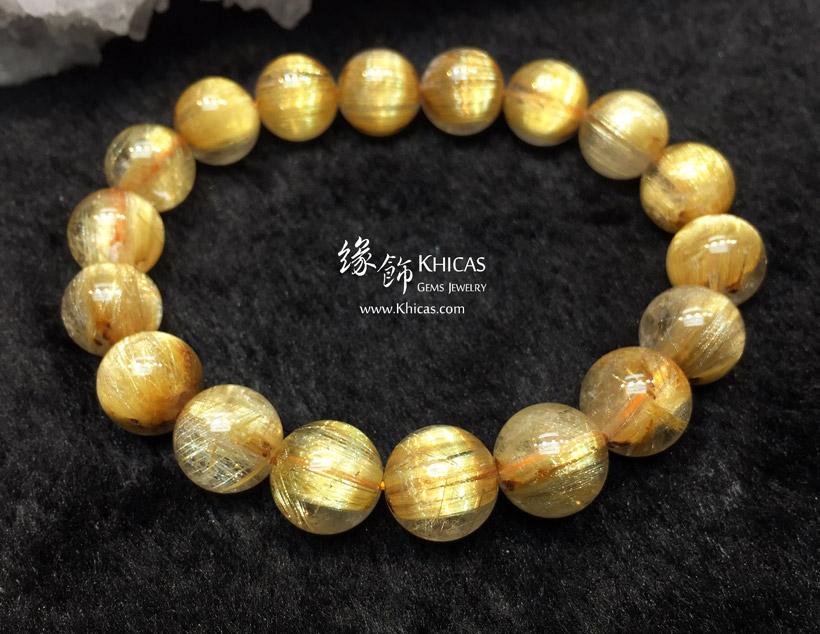 巴西 4A+ 貓眼金鈦晶手串 11.5mm Gold Rutilated Bracelet KH145407 @ Khicas Gems 緣飾天然水晶