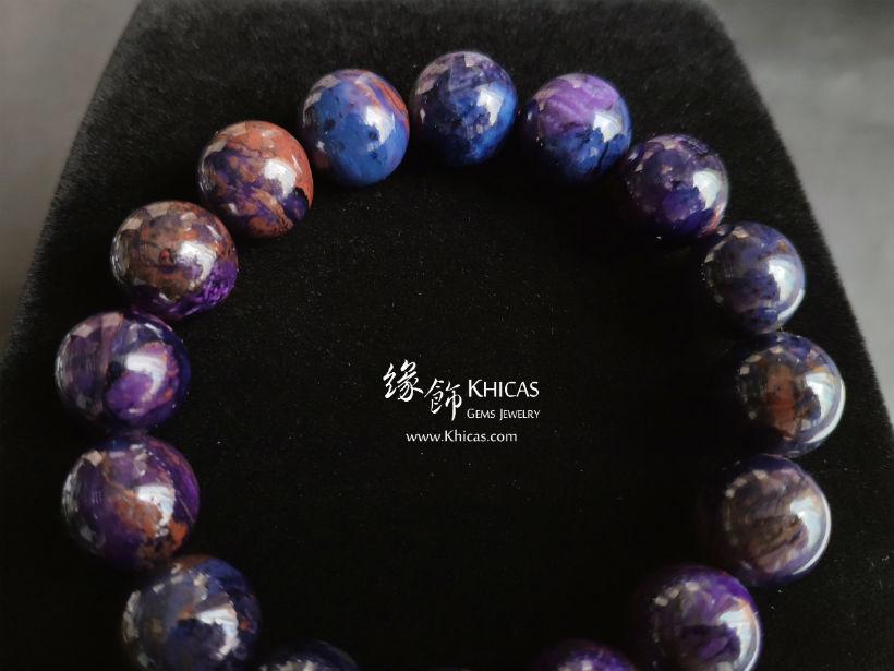 南非 5A+ 紫藍舒俱徠手串 13.2mm South Africa Sugilite Bracelet KH145410 @ Khicas Gems Jewelry 緣飾天然水晶