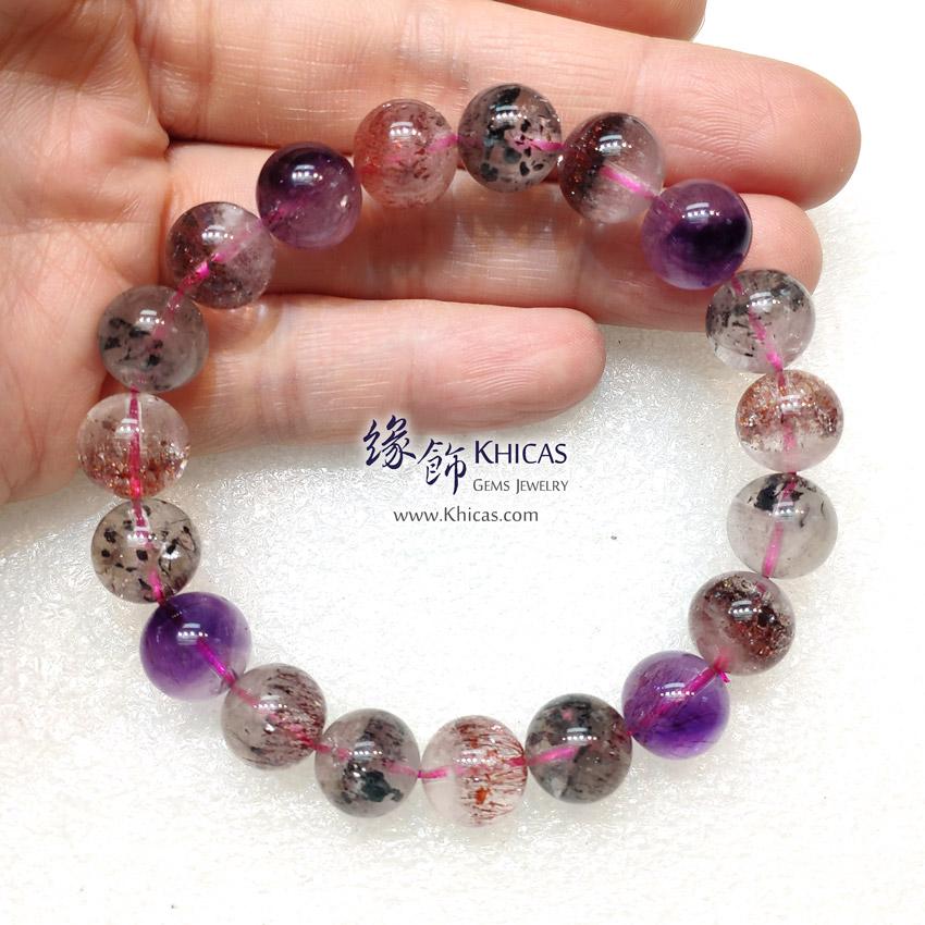 3A+ 巴西 Super Seven / Super7 / 超級七 / 三輪骨幹手串 10.5mm KH145417 @ Khicas Gems Jewelry 緣飾天然水晶