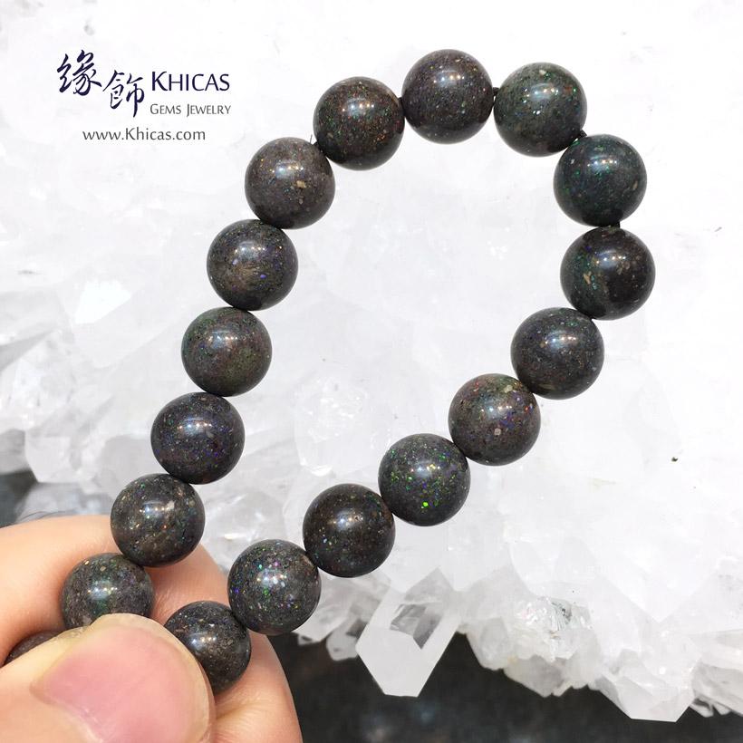 澳洲黑澳寶(蛋白石)手串 8.5mm+/- Black Opal Bracelet KH145436 @ Khicas Gems Jewelry 緣飾天然水晶