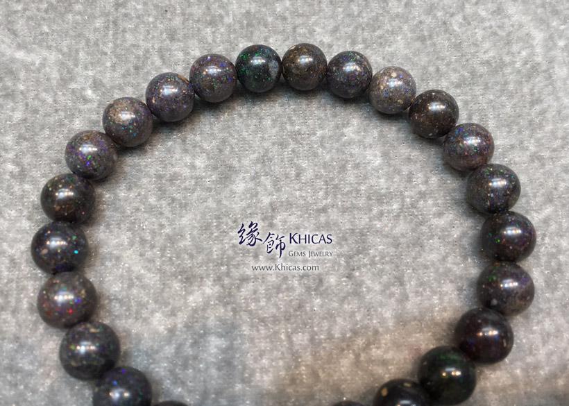 澳洲黑澳寶(蛋白石)手串 7.5mm+/- Black Opal Bracelet KH145438 @ Khicas Gems Jewelry 緣飾天然水晶