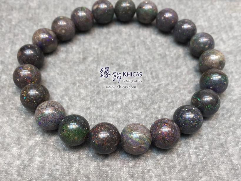 澳洲黑澳寶(蛋白石)手串 10mm+/- Black Opal Bracelet KH145439 @ Khicas Gems Jewelry 緣飾天然水晶