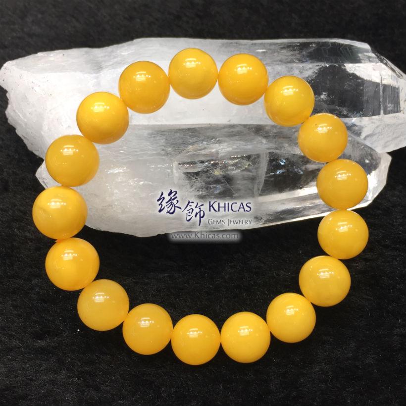 波羅的海 雞油黃老蜜蠟圓珠手串 12mm Amber Bracelets KH145464 @ Khicas Gems Jewelry 緣飾天然水晶