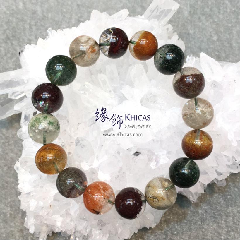 巴西 5A+ 彩幽靈手串 14.5mm Phantom KH145802 @ Khicas Gems Jewelry 緣飾天然水晶