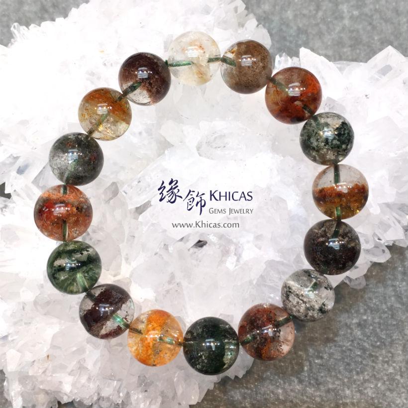 巴西 5A+ 彩幽靈手串 13.5mm Phantom KH145803 @ Khicas Gems Jewelry 緣飾天然水晶
