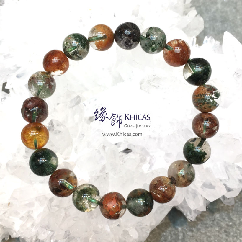 巴西 5A+ 彩幽靈手串 10mm Phantom KH145805 @ Khicas Gems Jewelry 緣飾天然水晶