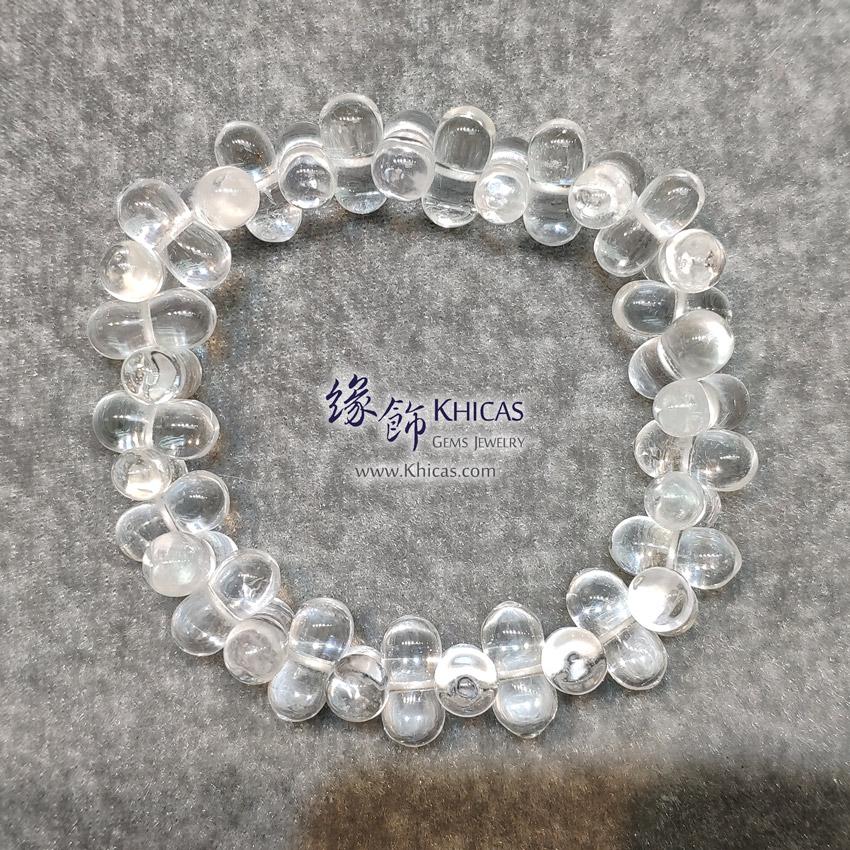 巴西白水晶花生形手串 White Quartz Bracelet KH145818A @ Khicas Gems Jewelry 緣飾天然水晶