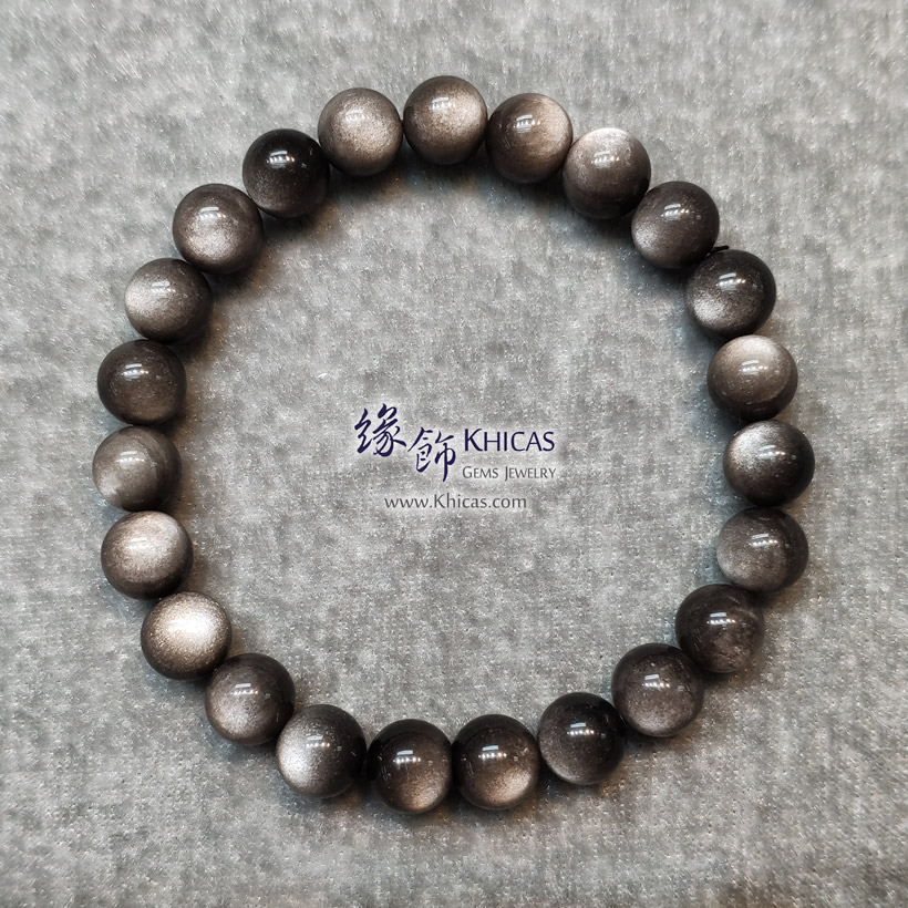 墨西哥 5A+ 銀曜石手串 8mm KH145819 @ Khicas Gems Jewelry 緣飾天然水晶