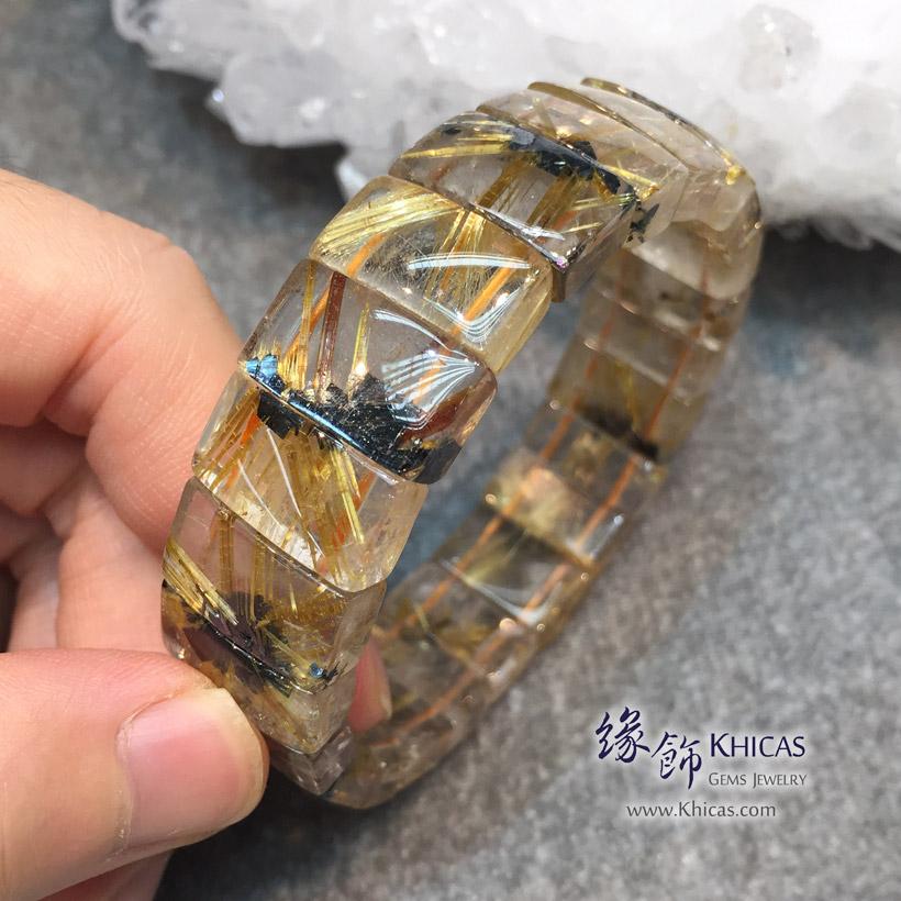 巴西 4A+ 爆花金鈦晶手排 16.9x6.5mm Golden Rutilated Quartz KH146074 @ Khicas Gems 緣飾天然水晶