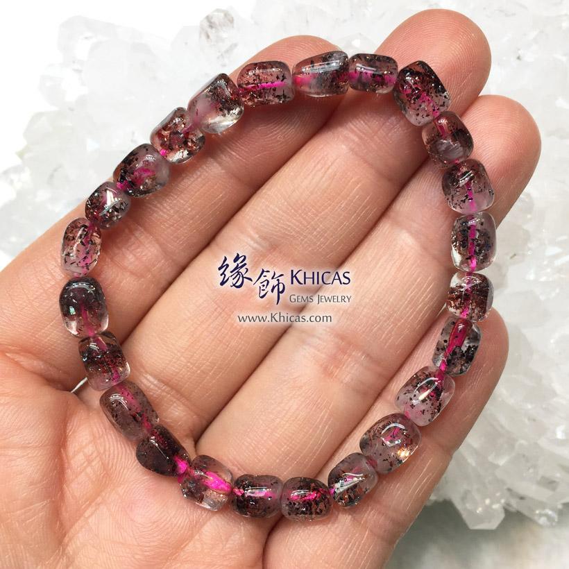 巴西 4A+ 草莓超級七 / 三輪骨幹 / Super 7 / 超七不定型手串 KH146191 @ Khicas Gems Jewelry 緣飾天然水晶