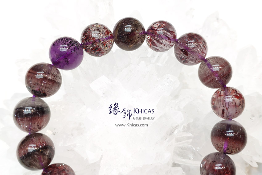 巴西 4A+ 超級七 / Super Seven / Super7 / 三輪骨幹手串 12.3mm KH146279 @ Khicas Gems Jewelry 緣飾天然水晶