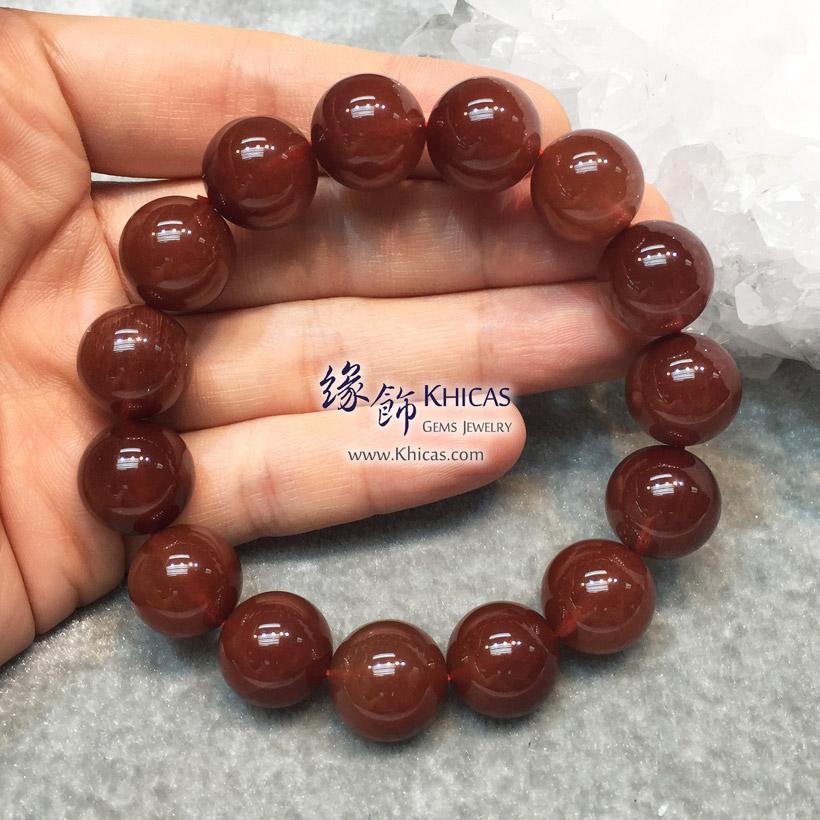 巴西 5A+ 兔毛紅髮晶手串 14.5mm Red Rutilated Quartz KH146282 @ Khicas Gems Jewelry 緣飾天然水晶