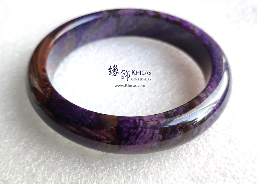 南非 4A+ 紫舒俱徠手鐲(內徑 57mm / 1.5) South Africa Sugilite Bangle KH146362 @ Khicas Gems Jewelry 緣飾天然水晶