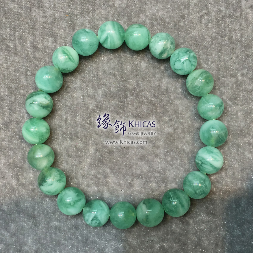 阿根廷 5A+ 綠紋石手串 9.5mm Green Calcite Bracelet KH146492 @ Khicas Gems Jewelry 緣飾天然水晶