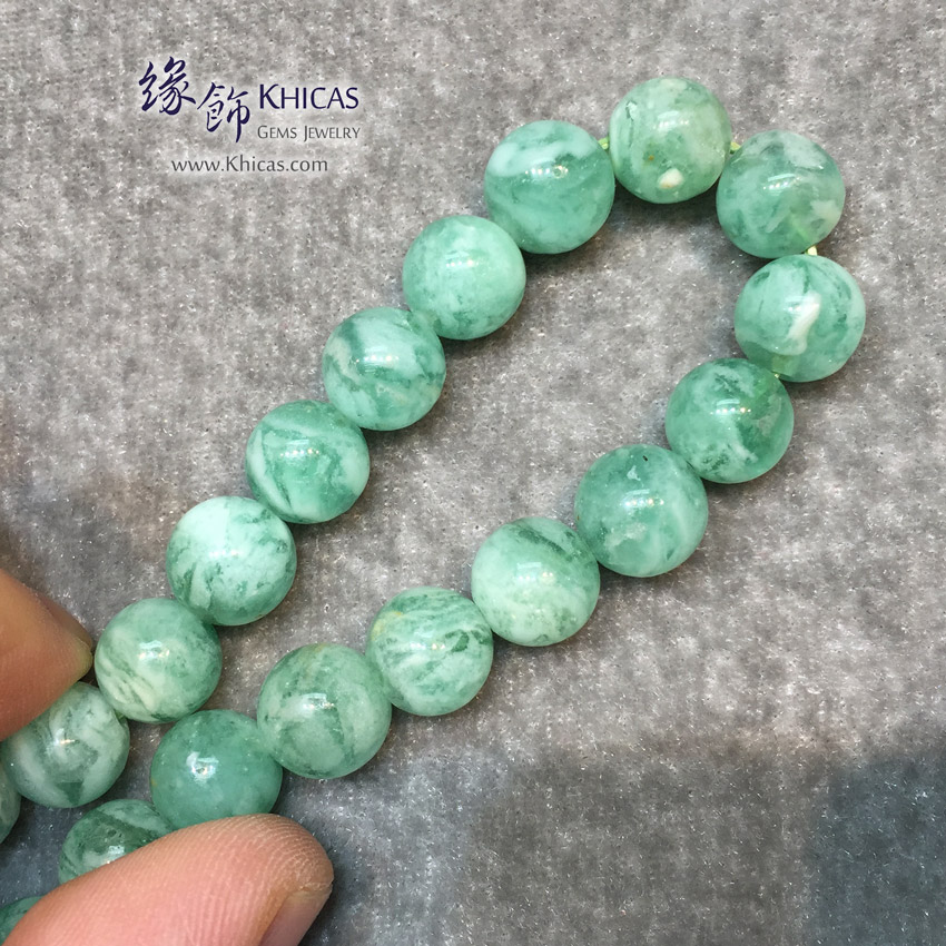 阿根廷 5A+ 綠紋石手串 9.8mm Green Calcite Bracelet KH146493 @ Khicas Gems Jewelry 緣飾天然水晶