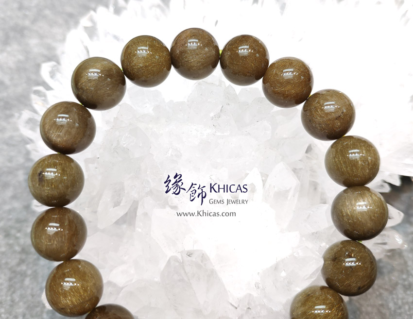 巴西 5A+ 兔毛金綠髮晶手串 11.8mm Golden Green Rutilated Bracelet KH146502 @ Khicas Gems Jewelry 緣飾天然水晶