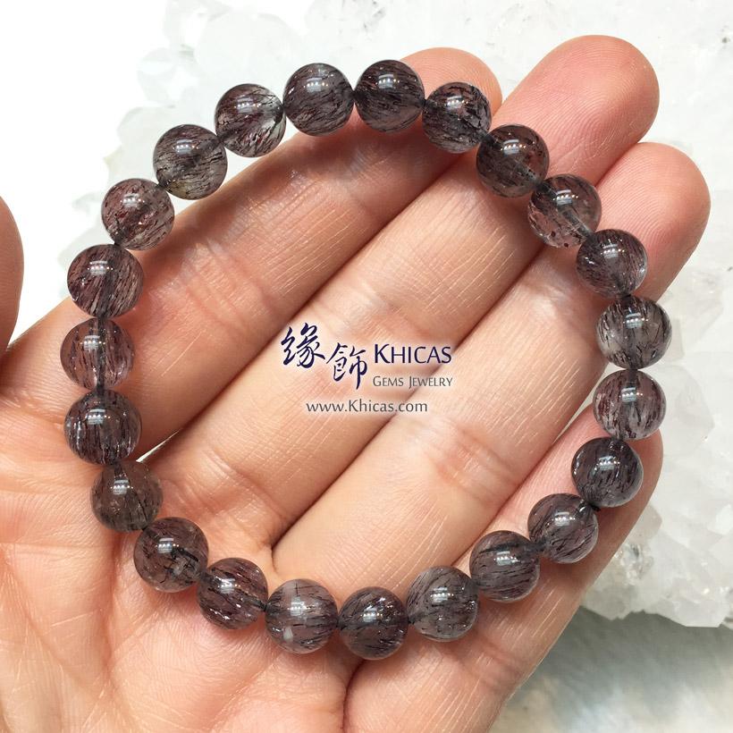 巴西 4A+ 黑超級七 / Super7 / 三輪骨幹手串 8mm KH146508 @ Khicas Gems Jewelry 緣飾天然水晶