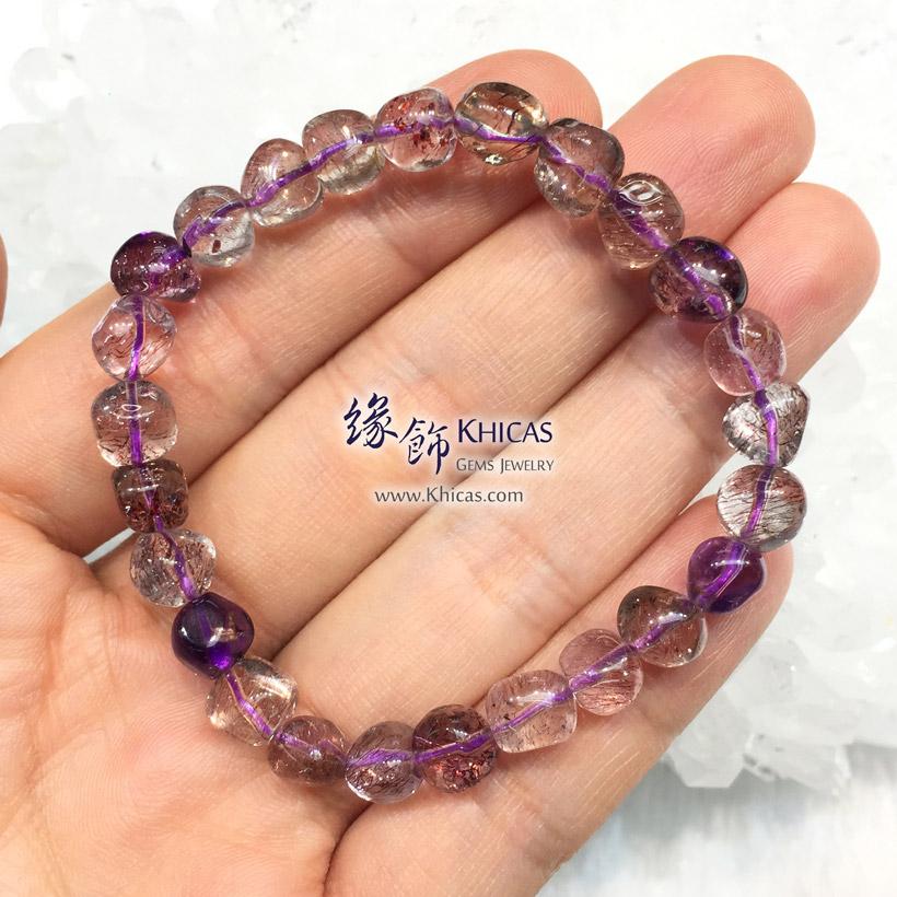 巴西 4A+ 超級七 / 三輪骨幹 / Super7 / Super Seven 不定型手串 KH146518 @ Khicas Gems Jewelry 緣飾天然水晶