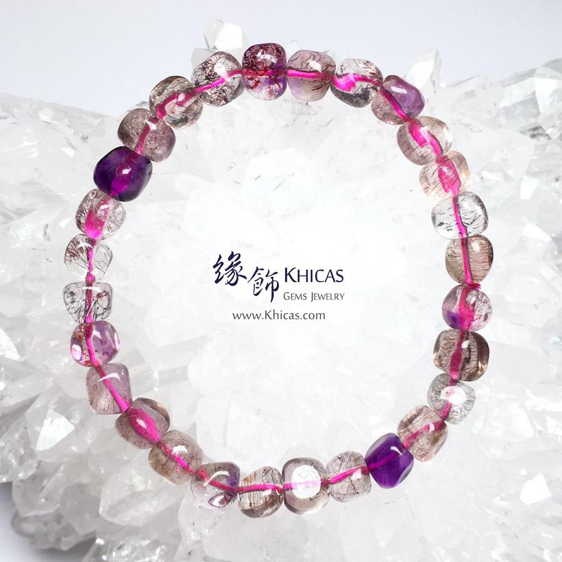 巴西 4A+ Super Seven / Super7 / 超級七 / 三輪骨幹不定型手串 KH146521 @ Khicas Gems Jewelry 緣飾天然水晶