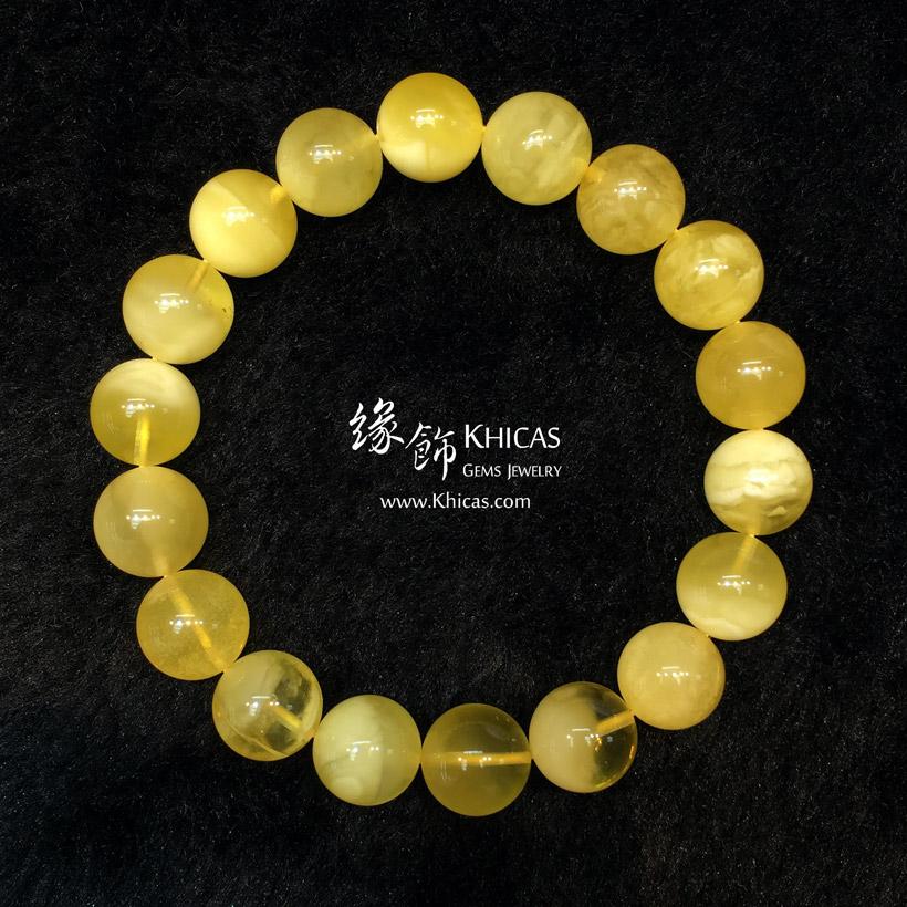 波羅的海 白花蜜蠟圓珠手串 11.2mm Amber Bracelets KH146721 @ Khicas Gems Jewelry 緣飾天然水晶