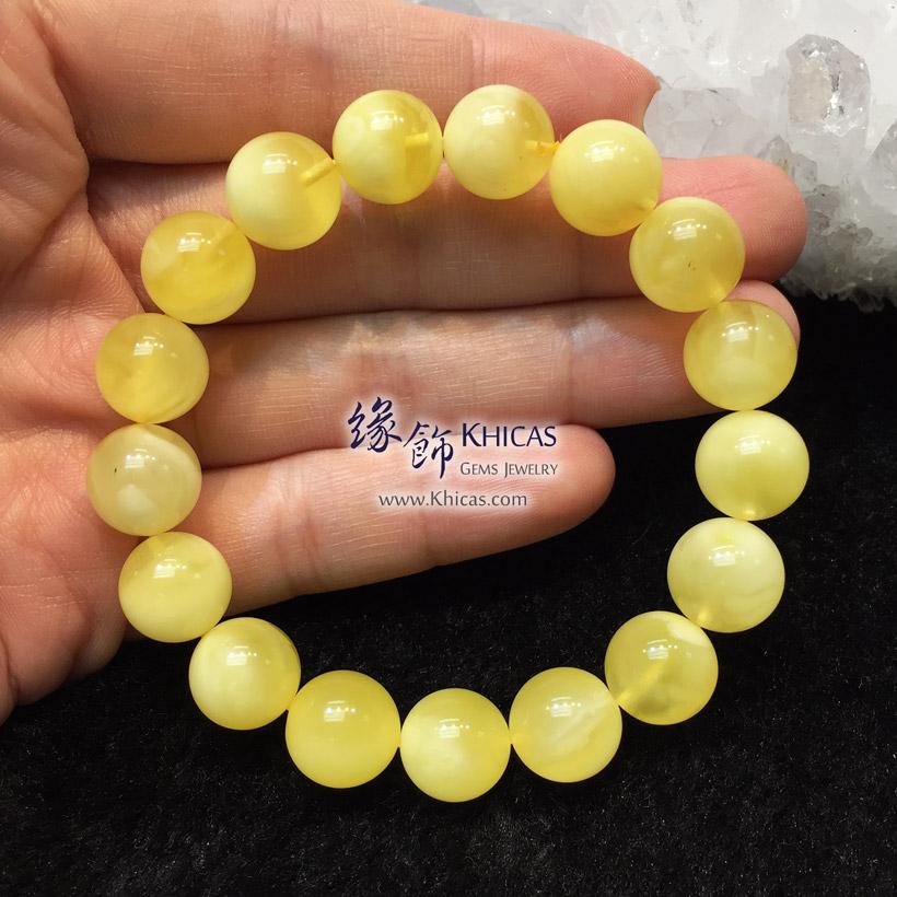 波羅的海 白花蜜蠟圓珠手串 11.5mm Amber Bracelets KH146723 @ Khicas Gems Jewelry 緣飾天然水晶