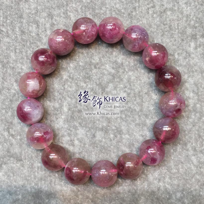 巴西 3A+ 粉紅碧璽 11.8mm 手串 Rubellite Tourmaline Bracelet KH146728 @ Khicas Gems Jewelry 緣飾天然水晶